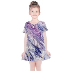 Marble Pattern Texture Kids  Simple Cotton Dress
