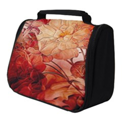 Flower Power, Colorful Floral Design Full Print Travel Pouch (small) by FantasyWorld7
