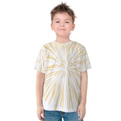 Yellow Firework Transparent Kids  Cotton Tee by Mariart