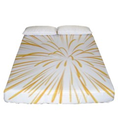 Yellow Firework Transparent Fitted Sheet (king Size)