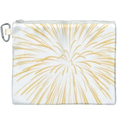 Yellow Firework Transparent Canvas Cosmetic Bag (xxxl)