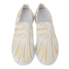 Yellow Firework Transparent Women s Slip On Sneakers by Mariart