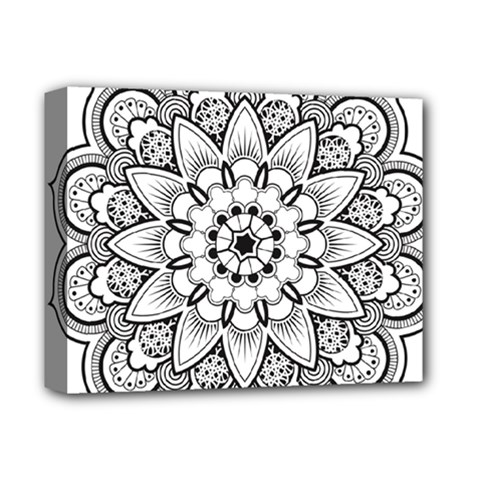 Star Flower Mandala Deluxe Canvas 14  X 11  (stretched)