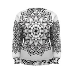 Star Flower Mandala Women s Sweatshirt