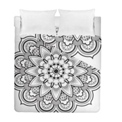 Star Flower Mandala Duvet Cover Double Side (full/ Double Size)