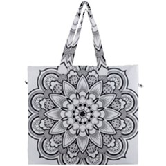 Star Flower Mandala Canvas Travel Bag by Jojostore