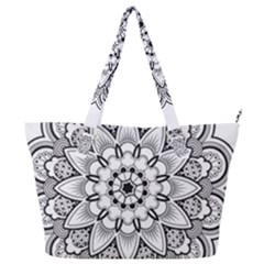 Star Flower Mandala Full Print Shoulder Bag