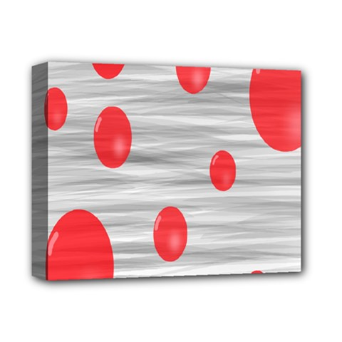 Red Dot Bubbles Deluxe Canvas 14  X 11  (stretched) by AnjaniArt
