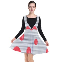 Red Dot Bubbles Plunge Pinafore Dress