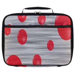 Red Dot Bubbles Full Print Lunch Bag