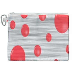 Red Dot Bubbles Canvas Cosmetic Bag (xxl) by AnjaniArt
