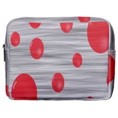 Red Dot Bubbles Make Up Pouch (large)