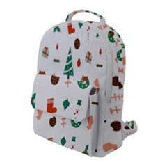 Christmas Tree Pattern Material Flap Pocket Backpack (large)