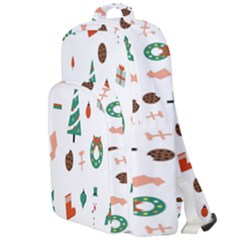 Christmas Tree Pattern Material Double Compartment Backpack