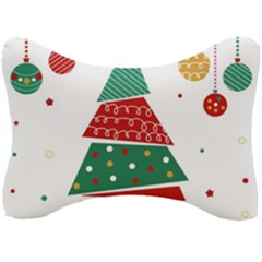Christmas Tree Decorated Seat Head Rest Cushion
