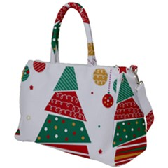 Christmas Tree Decorated Duffel Travel Bag