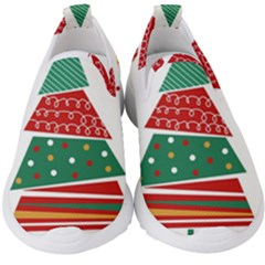 Christmas Tree Decorated Kids  Slip On Sneakers by AnjaniArt