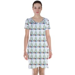 Christmas Tree Pattern Short Sleeve Nightdress