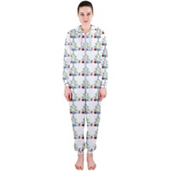 Christmas Tree Pattern Hooded Jumpsuit (ladies)