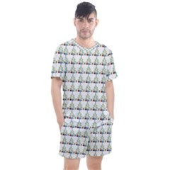 Christmas Tree Pattern Men s Mesh Tee And Shorts Set
