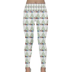 Christmas Tree Pattern Lightweight Velour Classic Yoga Leggings by AnjaniArt