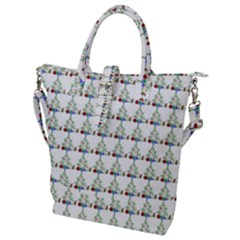 Christmas Tree Pattern Buckle Top Tote Bag