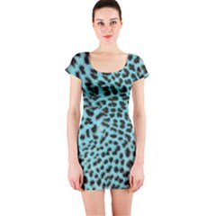 Leopard Print Short Sleeve Bodycon Dress by chihuahuadresses