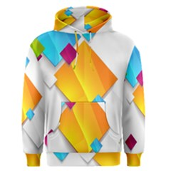 Colorful Abstract Geometric Squares Men s Pullover Hoodie