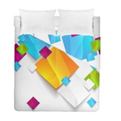 Colorful Abstract Geometric Squares Duvet Cover Double Side (full/ Double Size)