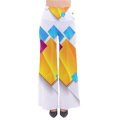 Colorful Abstract Geometric Squares So Vintage Palazzo Pants
