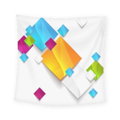 Colorful Abstract Geometric Squares Square Tapestry (small) by Alisyart