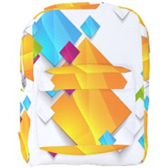 Colorful Abstract Geometric Squares Full Print Backpack