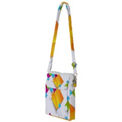 Colorful Abstract Geometric Squares Multi Function Travel Bag