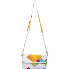 Colorful Abstract Geometric Squares Mini Crossbody Handbag