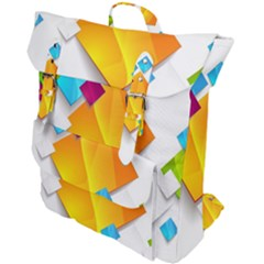 Colorful Abstract Geometric Squares Buckle Up Backpack