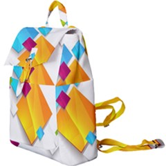 Colorful Abstract Geometric Squares Buckle Everyday Backpack
