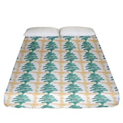 Christmas Tree Fitted Sheet (king Size)