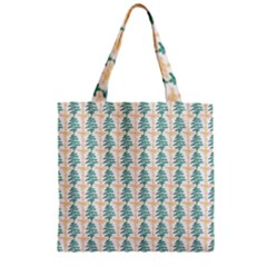 Christmas Tree Zipper Grocery Tote Bag