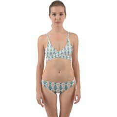 Christmas Tree Wrap Around Bikini Set