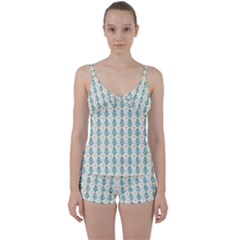 Christmas Tree Tie Front Two Piece Tankini
