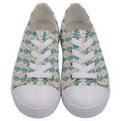 Christmas Tree Kids  Low Top Canvas Sneakers