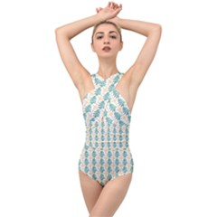 Christmas Tree Cross Front Low Back Swimsuit