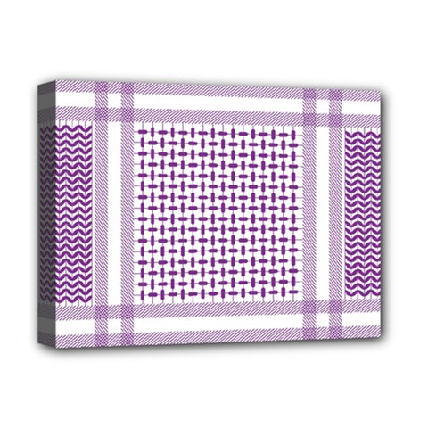 Purple Geometric Headdress Deluxe Canvas 16  X 12  (stretched)