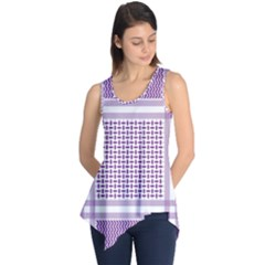 Purple Geometric Headdress Sleeveless Tunic