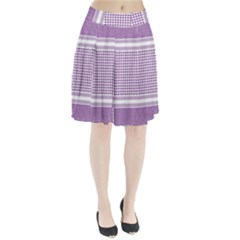 Purple Geometric Headdress Pleated Skirt