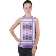 Purple Geometric Headdress Sleeveless Top