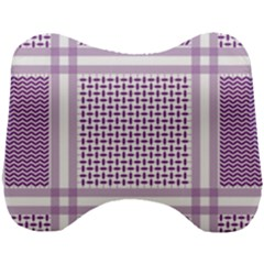Purple Geometric Headdress Head Support Cushion by Mariart