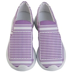 Purple Geometric Headdress Women s Lightweight Slip Ons