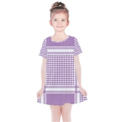 Purple Geometric Headdress Kids  Simple Cotton Dress