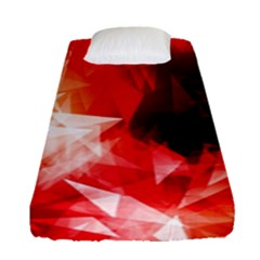Colorful Geometric Triangle Diamond Fitted Sheet (single Size)